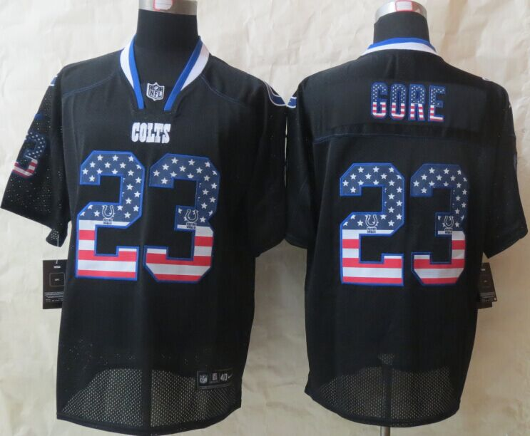 Indianapolis Colts 23 Gore USA Flag Fashion Black 2015 New Nike Elite Jerseys
