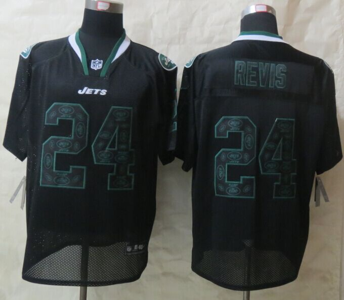 New York Jets 24 Revis Lights Out Black 2015 New Nike Elite Jerseys
