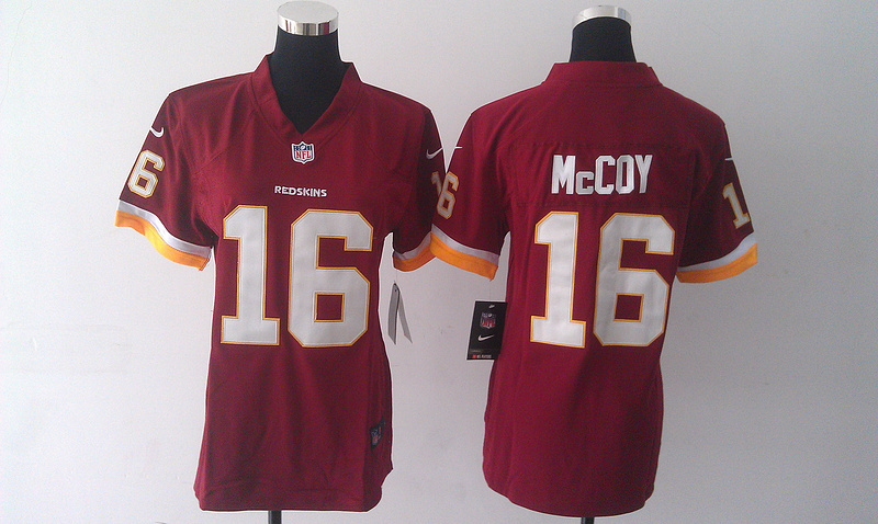 Womens Washington Redskins 16 McCoy red 2015 nike New Players Jersey