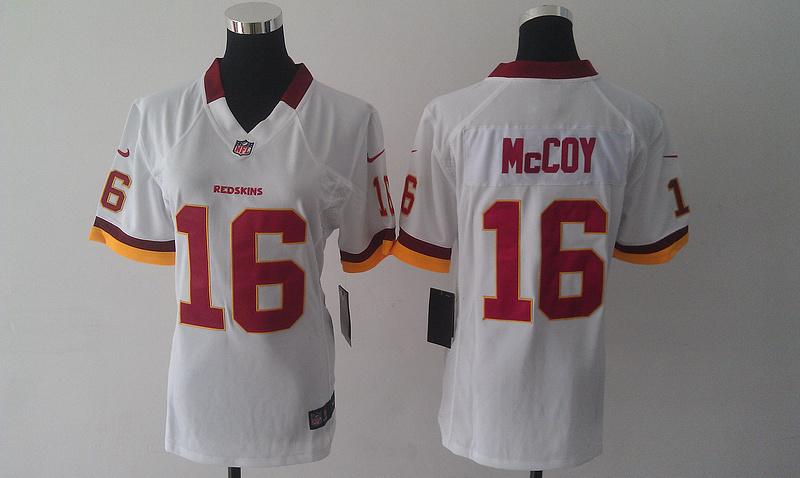 Womens Washington Redskins 16 McCoy white 2015 nike New Players Jersey