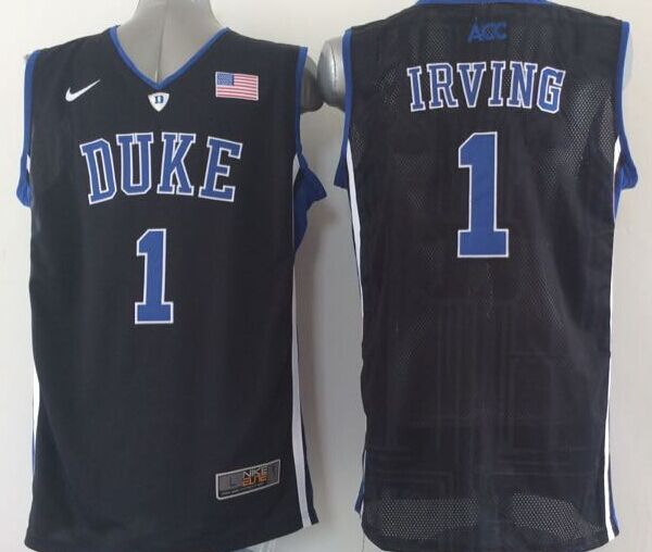 NCAA NBA Duke Blue Devils 1 Irving Black 2015 Jerseys
