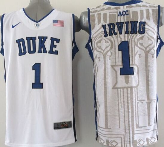 NCAA NBA Duke Blue Devils 1 Irving White 1 2015 Jerseys