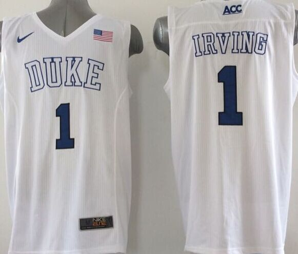 NCAA NBA Duke Blue Devils 1 Irving White 2015 Jerseys