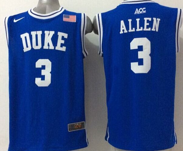 NCAA NBA Duke Blue Devils 3 Allen Blue 1 2015 Jerseys