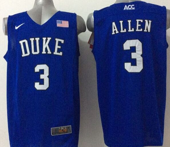 NCAA NBA Duke Blue Devils 3 Allen Blue 2015 Jerseys