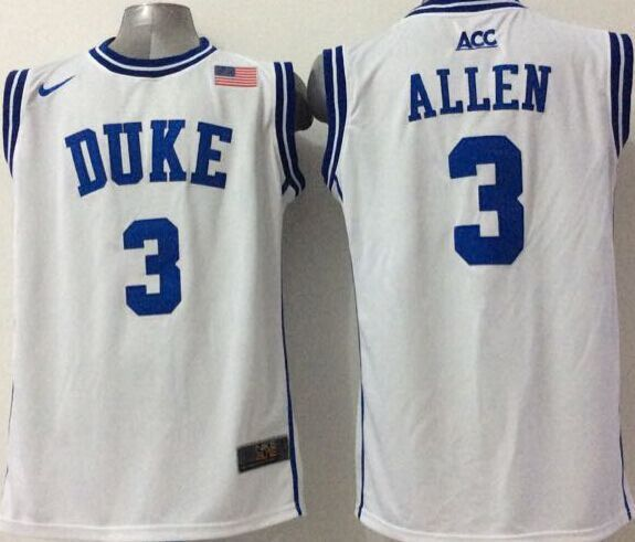 NCAA NBA Duke Blue Devils 3 Allen White 2015 Jerseys