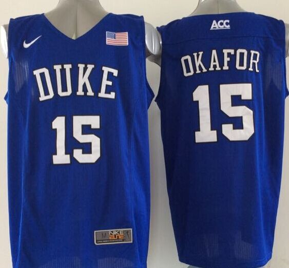 NCAA NBA Duke Blue Devils 15 okafor blue 2015 Jerseys