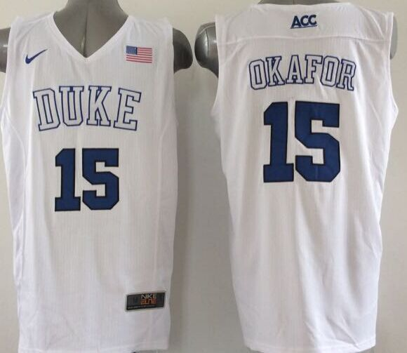 NCAA NBA Duke Blue Devils 15 Okafor White 2015 Jerseys