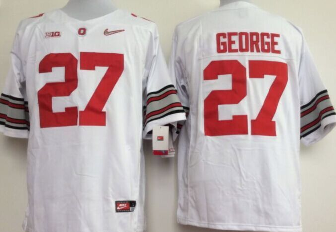 NCAA Ohio State Buckeyes 27 George White 2015 Jerseys