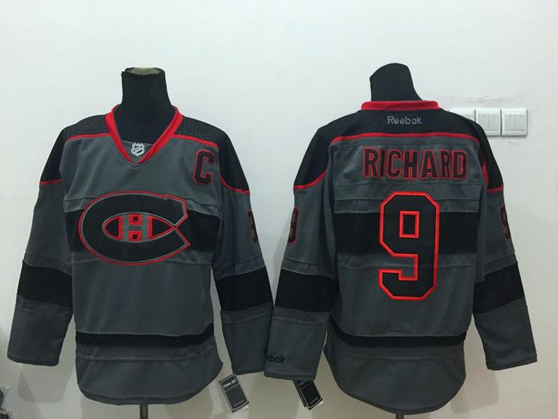 NHL Montreal Canadiens 9 Richard rice Black 2015 Jerseys