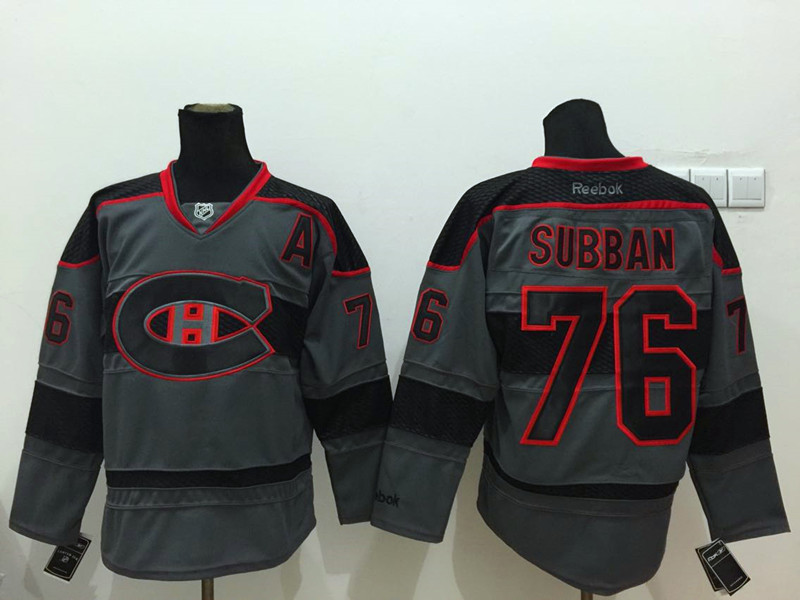 NHL Montreal Canadiens 76 subban Black 2015 Jerseys