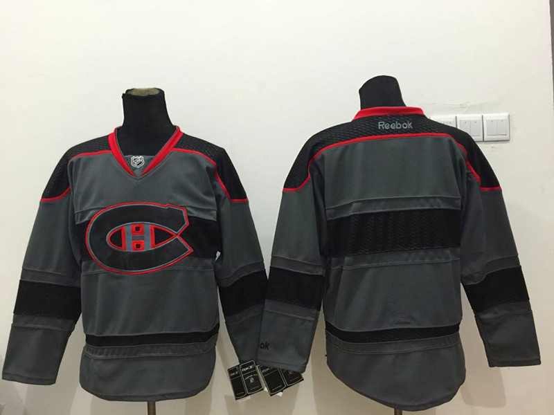 NHL Montreal Canadiens Blank Black Black 2015 Jerseys