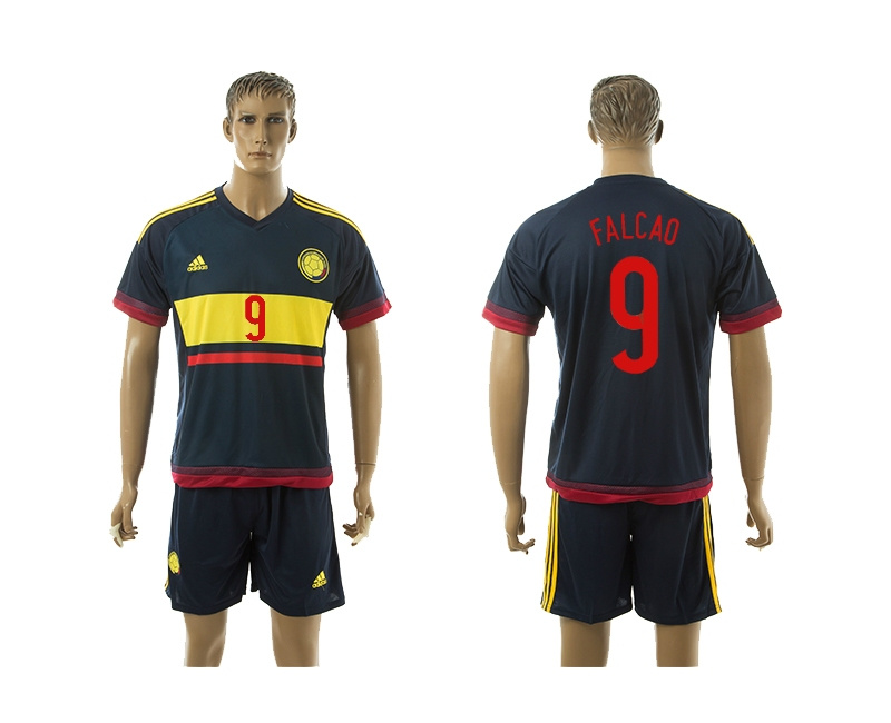 2015 Columbia 9 FALCAO Away Soccer Jersey