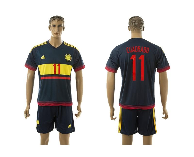 2015 Columbia 11 CUADRADO Away Soccer Jersey