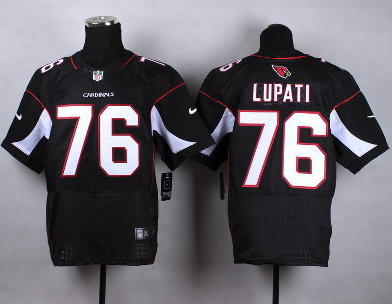 Arizona Cardinals 76 lupati black 2015 Nike Elite Jersey
