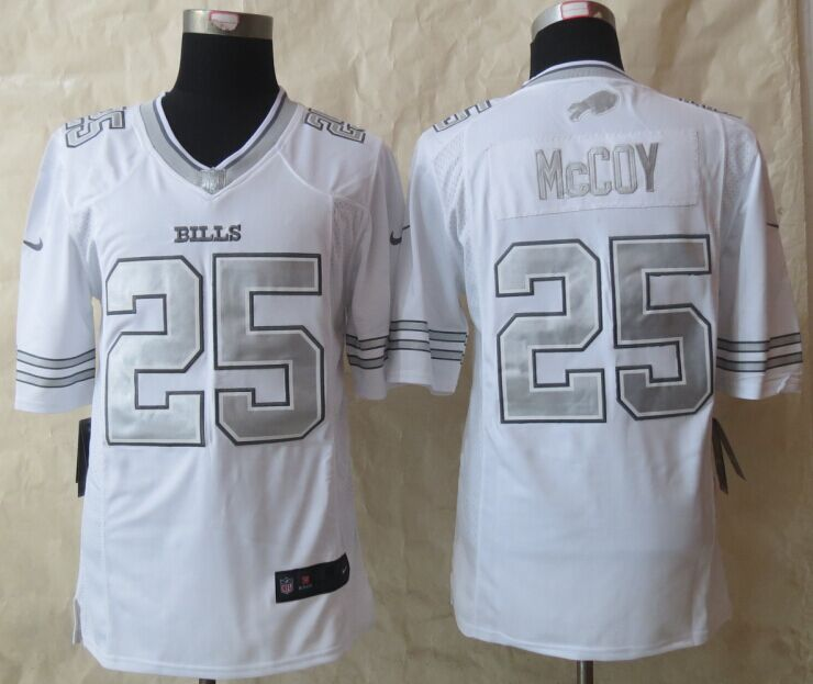 Buffalo Bills 25 McCoy Platinum White 2015 New Nike Limited Jerseys