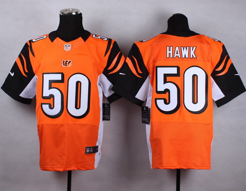Cincinnati Bengals 50 hawk orange 2015 Nike Elite Jersey