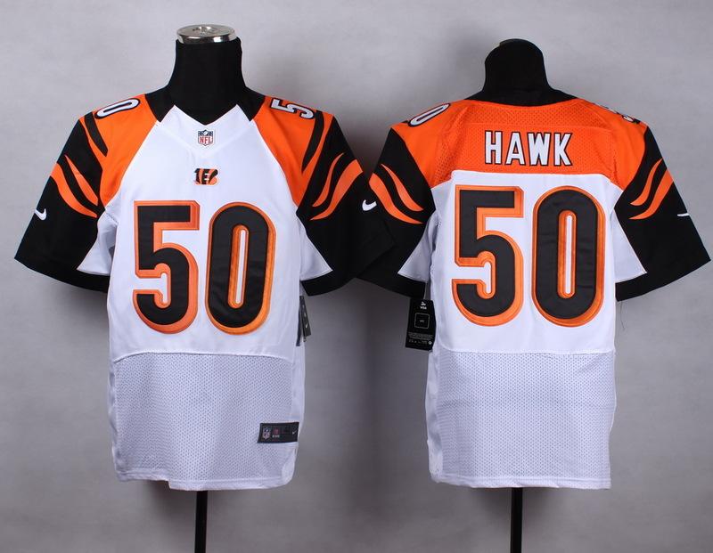 Cincinnati Bengals 50 hawk white 2015 Nike Elite Jersey