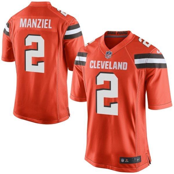 Cleveland Browns 2 Manziel Orange 2015 Nike Game Jersey