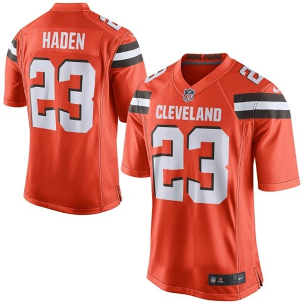 Cleveland Browns 23 haden Orange 2015 Nike Game Jersey