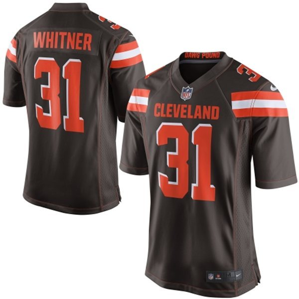 Cleveland Browns 31 Whitner Brown 2015 Nike Game Jersey