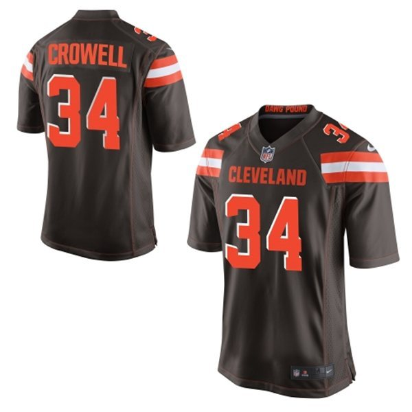 Cleveland Browns 34 Crowell Brown 2015 Nike Game Jersey