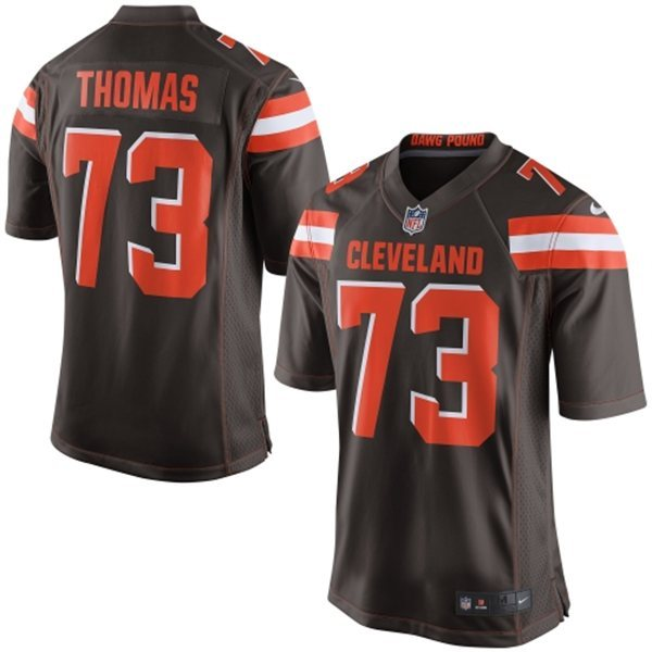 Cleveland Browns 73 Thomas Brown 2015 Nike Game Jersey