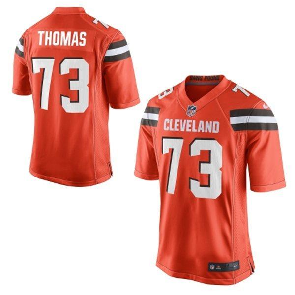 Cleveland Browns 73 Thomas Orange 2015 Nike Game Jersey