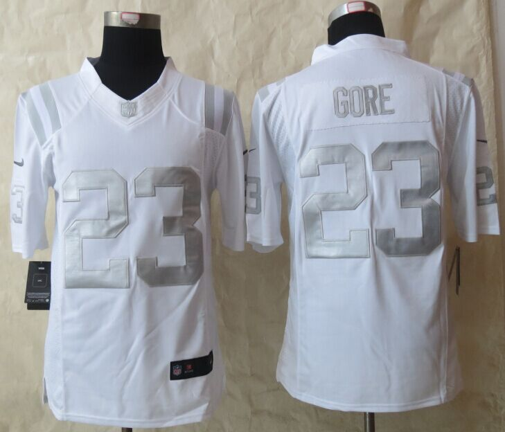 Indianapolis Colts 23 Gore Platinum White 2015 New Nike Limited Jerseys