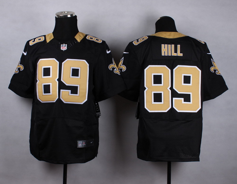 NFL Customize New Orleans Saints 89 hill black 2015 Nike Elite Jersey