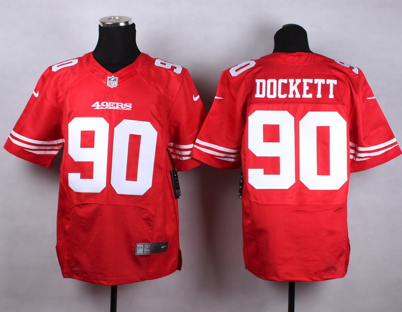 NFL Customize San Francisco 49ers 90 dockett red 2015 Nike Elite Jersey