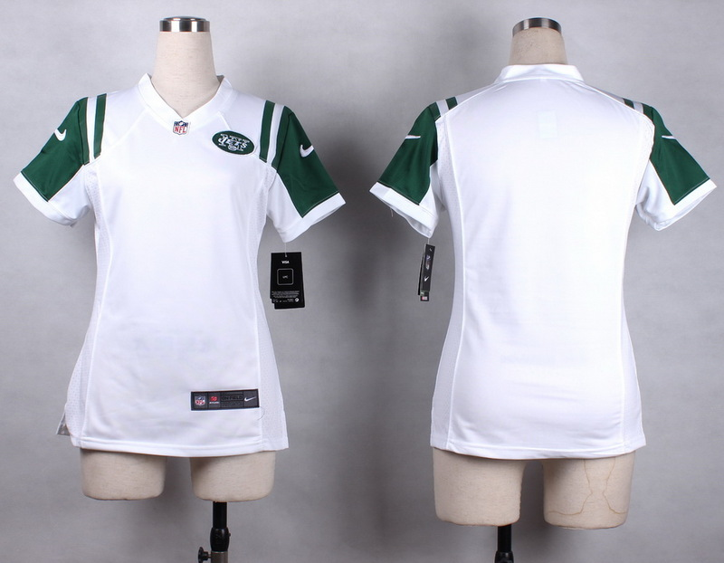 Womens New York Jets Blank white 2015 Nike Game Jersey