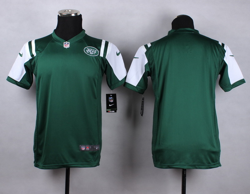 Youth New York Jets Blank green 2015 NFL Nike Game Jersey