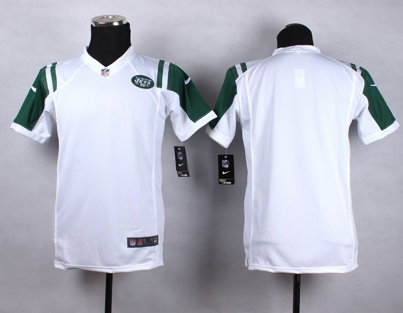 Youth New York Jets Blank white 2015 NFL Nike Game Jersey