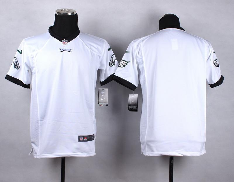 Youth Philadelphia Eagles Blank white 2015 NFL Nike Game Jersey