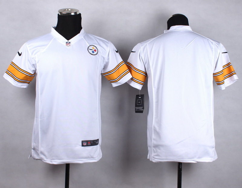 Youth Pittsburgh Steelers Blank white 2015 NFL Nike Game Jersey