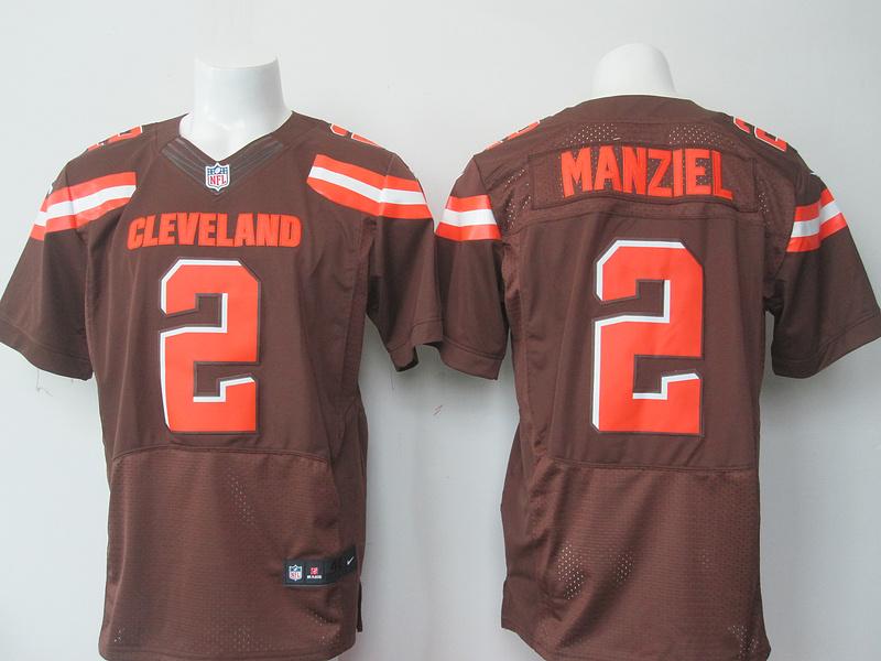 Cleveland Browns 2 Manziel brown 2015 Nike elite Jersey