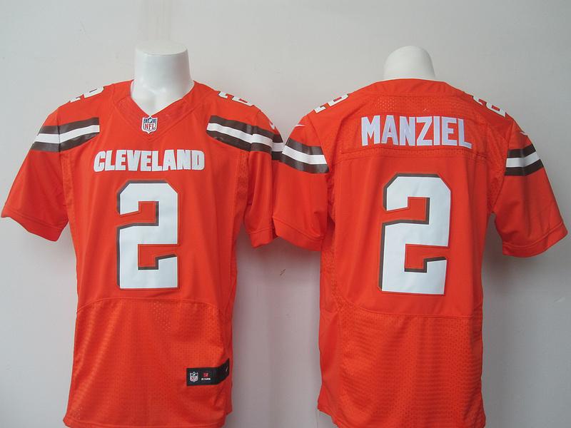 Cleveland Browns 2 Manziel Orange 2015 Nike elite Jersey