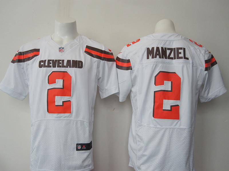 Cleveland Browns 2 Manziel white 2015 Nike elite Jersey