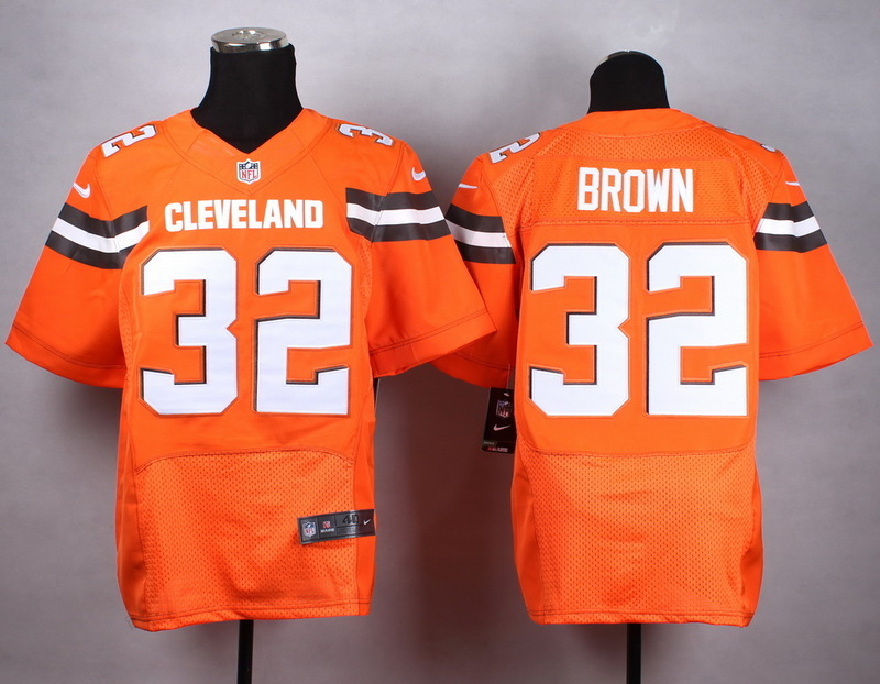 Cleveland Browns 32 brown orange New 2015 Nike Elite Jersey