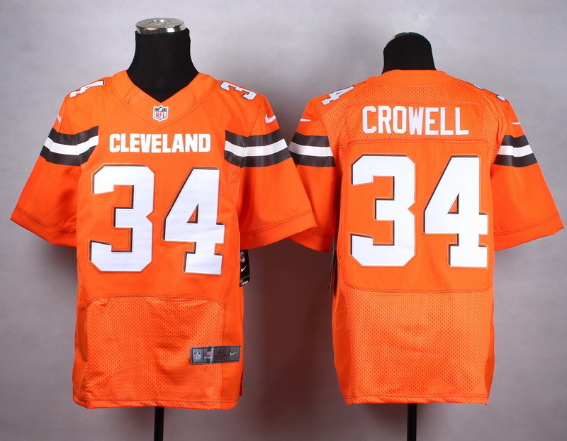 Cleveland Browns 34 crowell orange New 2015 Nike Elite Jersey