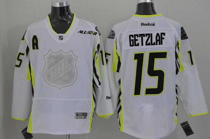 NHL Anaheim Ducks 15 Getzlaf white 2015 All Star Jersey