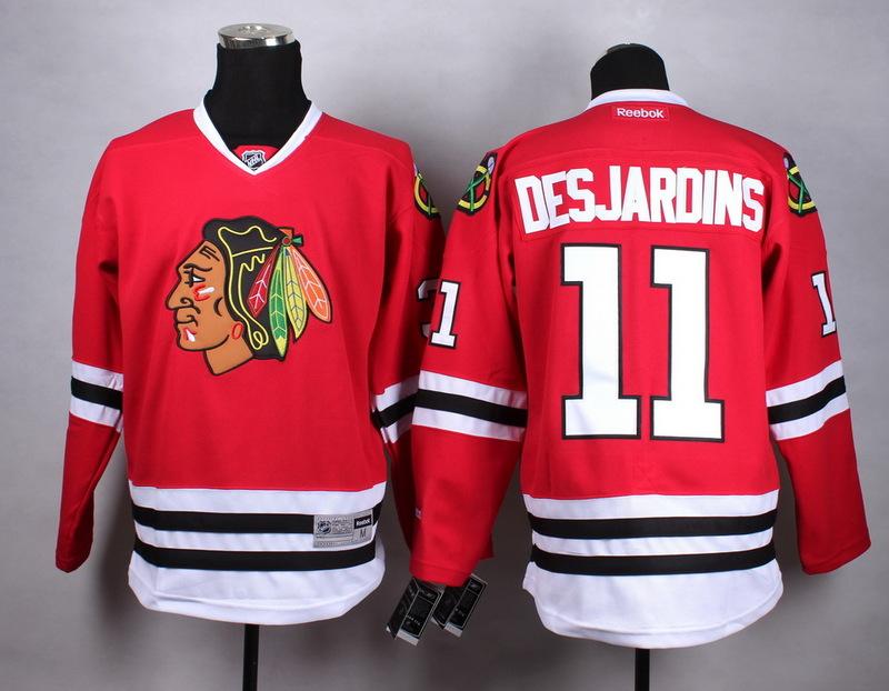 NHL Chicago Blackhawks 11 Desjardins red Jersey