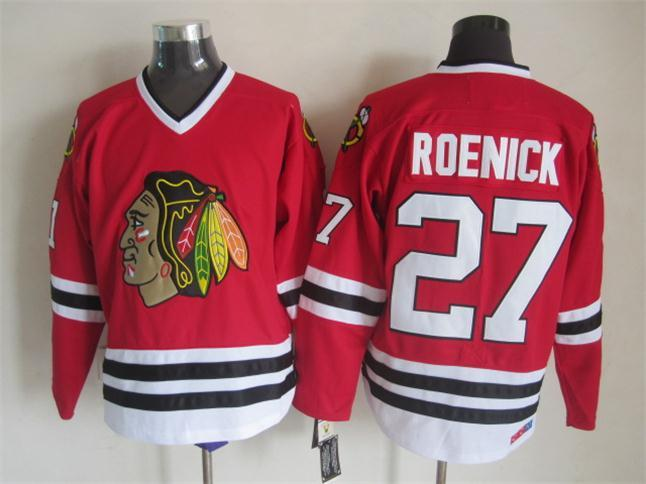 NHL Chicago Blackhawks 27 Roenick Red CCM Throwback Jersey