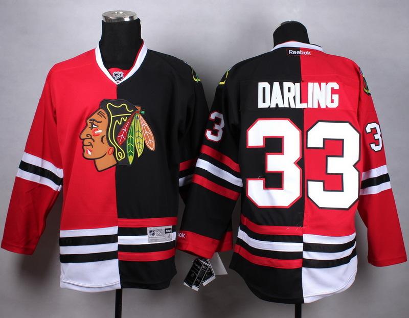 NHL Chicago Blackhawks 33 darling black red Split Jersey