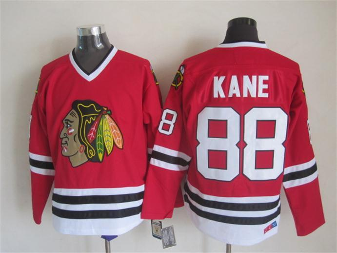 NHL Chicago Blackhawks 88 kane Red CCM Throwback Jersey