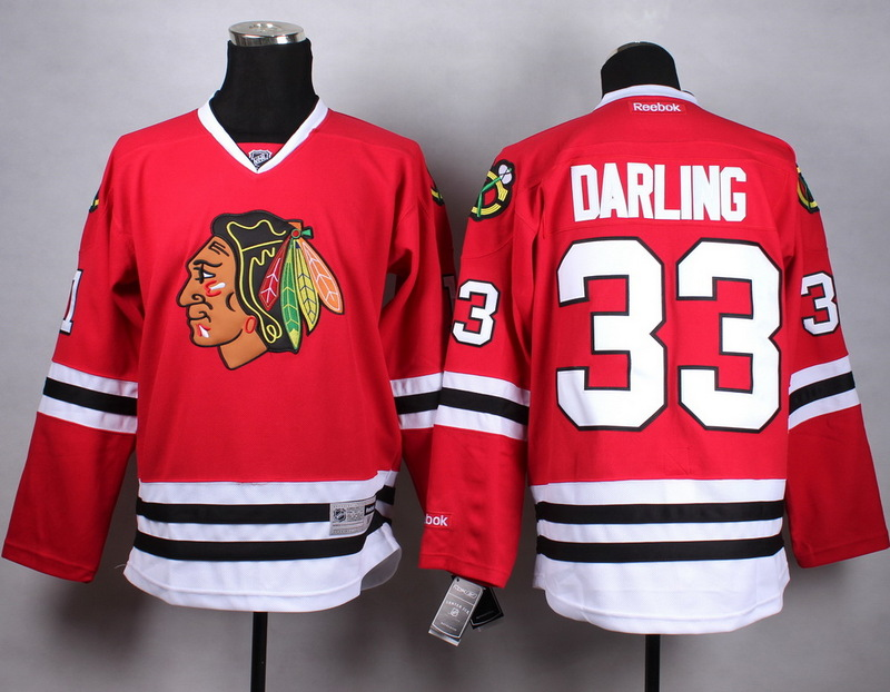 NHL Chicago Blackhawks 33 darling red Jersey