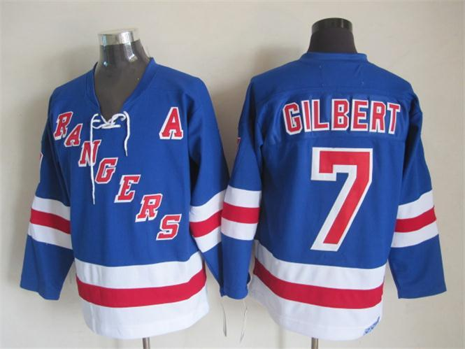 NHL New York Rangers 7 gilbert blue Jersey