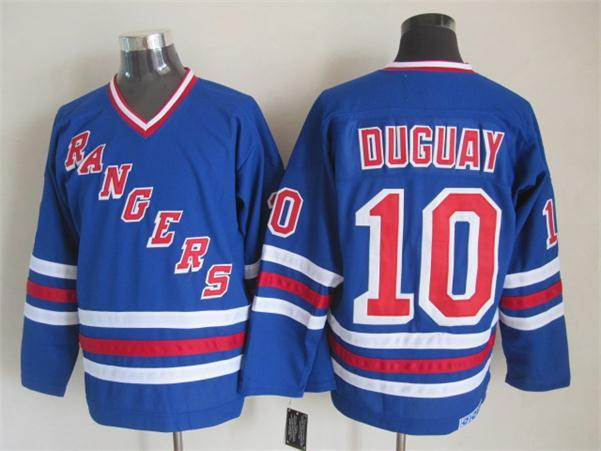 NHL New York Rangers 10 duguay blue CCM Heroes of Hockey Alumni Jersey