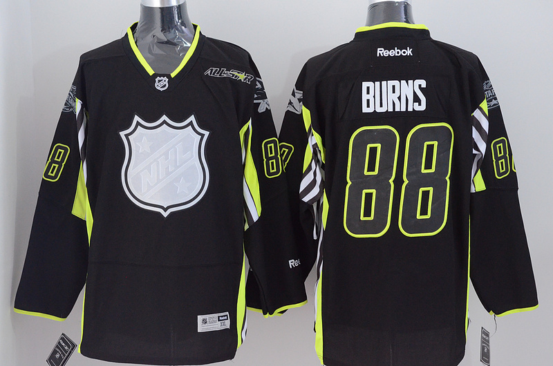 NHL San Jose Sharks 88 Burns black All Star Jersey